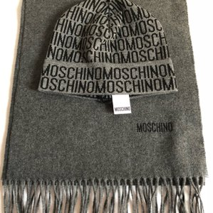 Moschino Moschino Unisex Hat and Scarf Set NWT