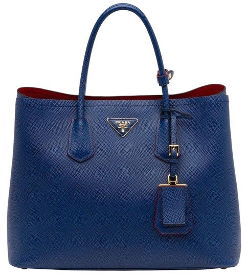 Preload https://img-static.tradesy.com/item/24486753/prada-double-bn2761-cuir-saffiano-blue-leather-tote-0-1-540-540.jpg