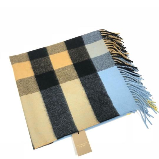 Preload https://img-static.tradesy.com/item/24486756/burberry-pale-carbon-blue-bandana-in-check-cashmere-scarfwrap-0-0-540-540.jpg