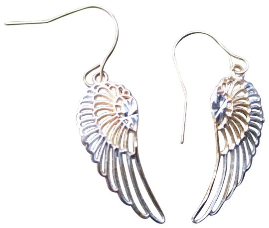 Preload https://img-static.tradesy.com/item/24486765/yellow-and-white-gold-14-kt-diamond-cut-angle-wings-earrings-0-1-540-540.jpg