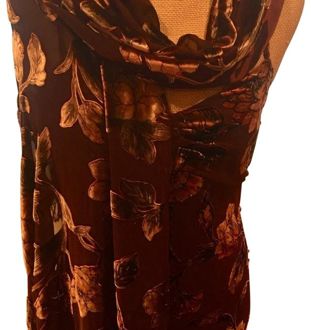 Preload https://img-static.tradesy.com/item/24486787/brown-wong-nocturne-elegant-evening-with-long-matching-scarf-formal-dress-size-8-m-0-2-650-650.jpg