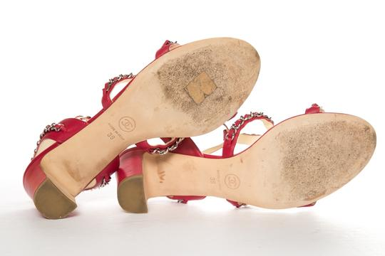 Chanel Red Sandals