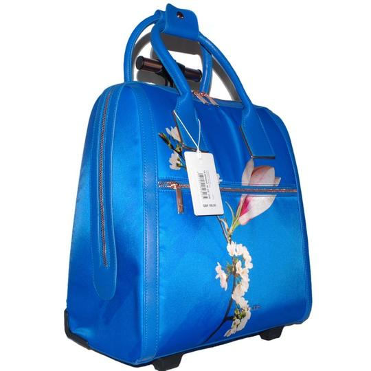 Ted Baker Polyester Carry On Suitcase Bright Harmony Floral Blue Travel Bag