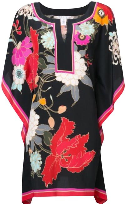 Preload https://img-static.tradesy.com/item/24486803/trina-turk-multicolor-floral-print-kaftan-silk-tunic-dress-xss-blouse-size-4-s-0-1-650-650.jpg