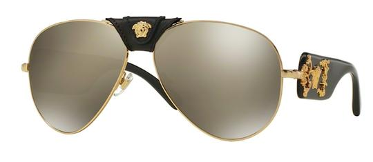 Versace New Large Aviator Mirror Lens MOD 2150Q 10025A Free 3 Day Shipping