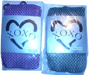 XOXO Plaid check crochet knit nylons hosiery tights stockings argyle lot