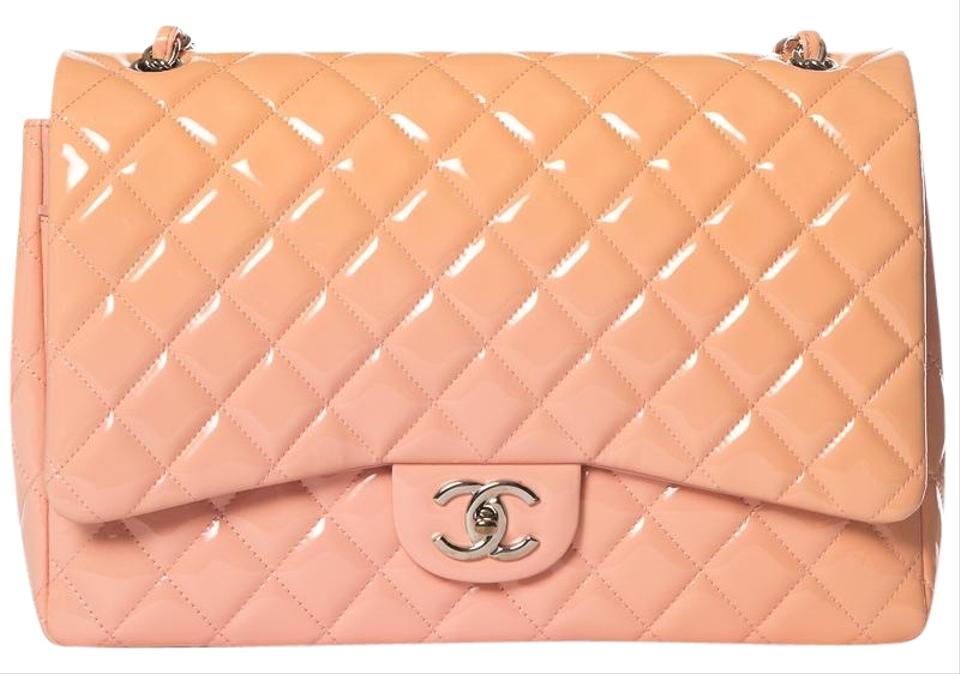 a92a66b066b6 Chanel Classic Flap Peach   Ombre Classic Maxi Double Pink Patent ...