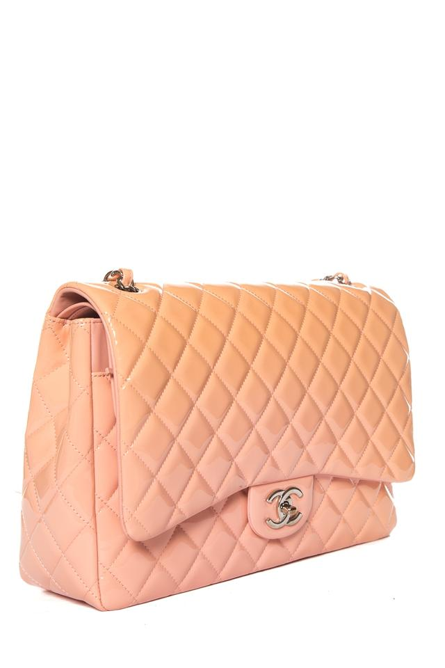f97644ca6ef0 Chanel Classic Flap Peach   Ombre Classic Maxi Double Pink Patent Leather  Shoulder Bag - Tradesy