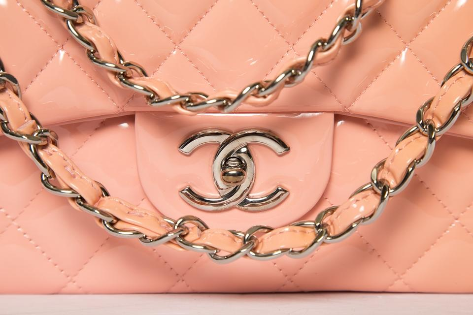 3a0abfb691750b Chanel Classic Flap Ombre Peach & Classic Maxi Double Pink Patent Leather  Shoulder Bag - Tradesy