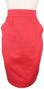 Thierry Mugler Cotton Pencil Vintage Skirt Coral