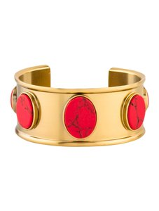 Kate Spade Kate Spade Red Stone Cuff Hinged Bangle NWT