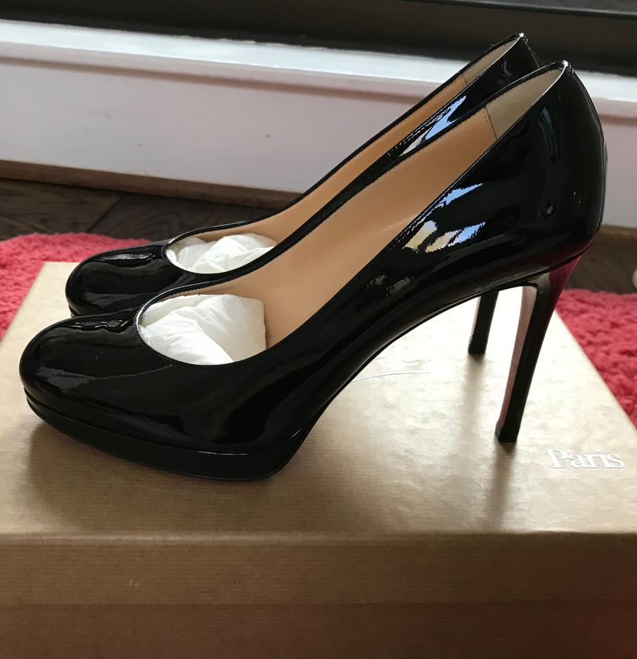 676b532550df Christian Louboutin Black Patent 100mm New Simple In Box Pumps Size US 6.5  Regular (M