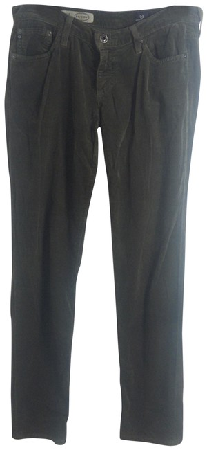 AG Adriano Goldschmied Green Corduroy Pants Size 6 (S, 28) AG Adriano Goldschmied Green Corduroy Pants Size 6 (S, 28) Image 1