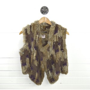 Antik Batik Fur Fall Winter Holiday Vest