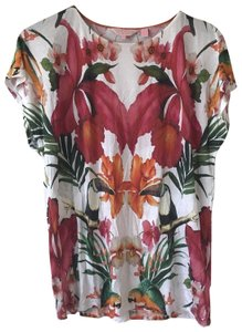 Ted Baker Toucan Tropical T Shirt White