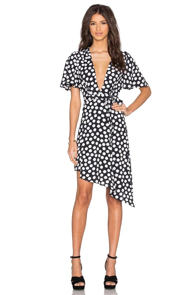 8d050e065be9 Privacy Please Black Colby Wrap Polka Dot Revolve Short Casual Dress ...
