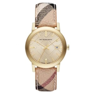 Burberry Burberry Watch BU9026 The City Champagne Dial Leather Women's Watch