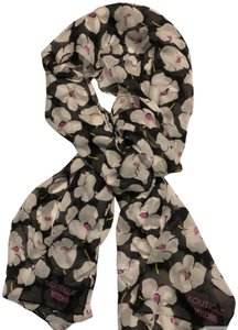 Boutique Moschino New Floral Print Silk Scarf