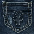 Rock Revival Blue Distressed Body Boot Cut Jeans Size 26 (2, XS) Rock Revival Blue Distressed Body Boot Cut Jeans Size 26 (2, XS) Image 1