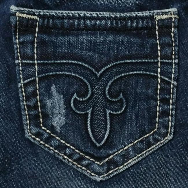 Item - Blue Distressed Body Boot Cut Jeans Size 26 (2, XS)