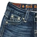 Rock Revival Blue Distressed Body Boot Cut Jeans Size 26 (2, XS) Rock Revival Blue Distressed Body Boot Cut Jeans Size 26 (2, XS) Image 4