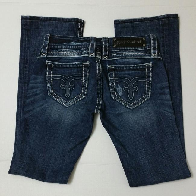 Rock Revival Blue Distressed Body Boot Cut Jeans Size 26 (2, XS) Rock Revival Blue Distressed Body Boot Cut Jeans Size 26 (2, XS) Image 7