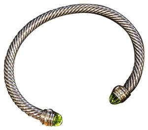 David Yurman David Yurman cable classics bracelet with peridot and 14K gold, 5mm
