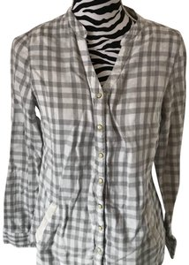 French Dressing Jeans Button Down Shirt gray, white