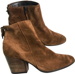 Paul Green Suede Tassel Leather Brown Boots