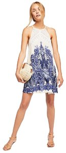 Free People short dress Ivory Combo Flattering on Tradesy