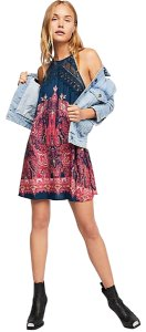 Free People short dress Navy Combo Flattering on Tradesy