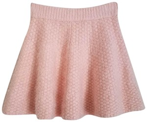 Lovers + Friends Fuzzy Sweater Mini Skirt Baby Pink