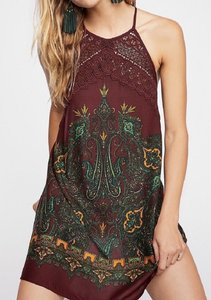 Free People short dress WINE Flattering on Tradesy