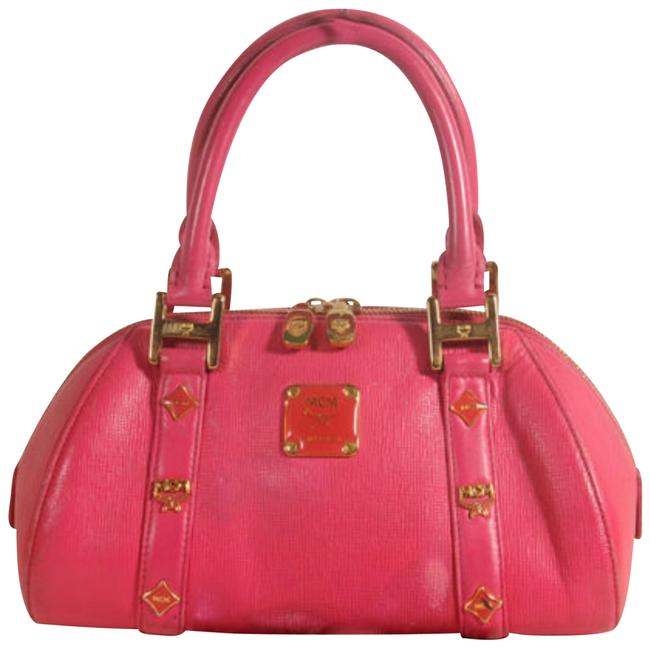 Item - Studded Bowler 869070 Red Leather Tote