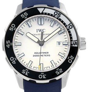 IWC IWC Aquatimer White Dial Rubber Strap Mens Watch IW356805 Box Papers