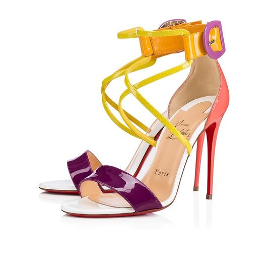 Preload https://img-static.tradesy.com/item/24488072/christian-louboutin-multicolor-choca-100-patent-criss-cross-ankle-strap-stiletto-sandal-heel-pumps-s-0-0-540-540.jpg