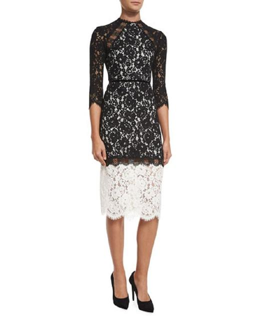 Preload https://img-static.tradesy.com/item/24488138/alexis-black-white-floral-lace-mid-length-cocktail-dress-size-4-s-0-0-650-650.jpg