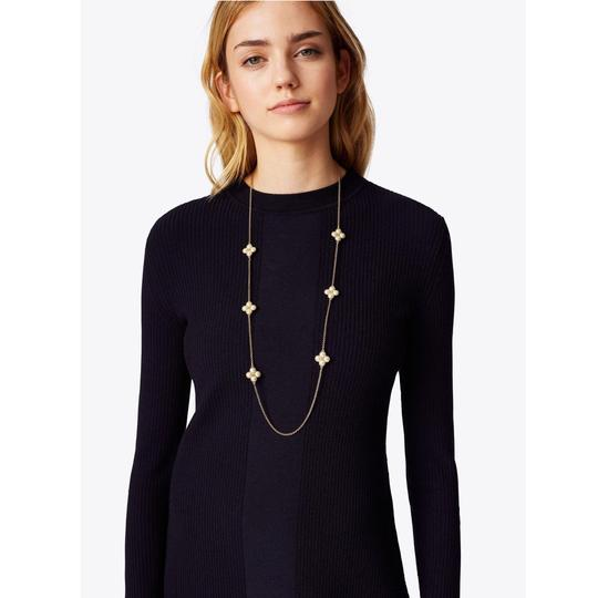 Tory Burch Rope Clover Logo Rosary * Long Image 1