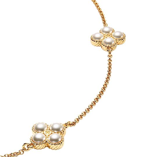 Tory Burch Rope Clover Logo Rosary * Long Image 2