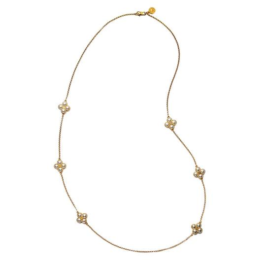 Tory Burch Rope Clover Logo Rosary * Long Image 3