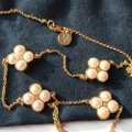 Tory Burch Rope Clover Logo Rosary * Long Image 4