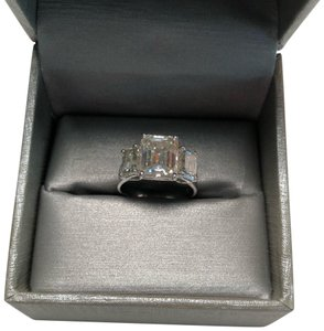 No Brand 6 CT MOISSANITE RING STERLING SILVER SIZE 6