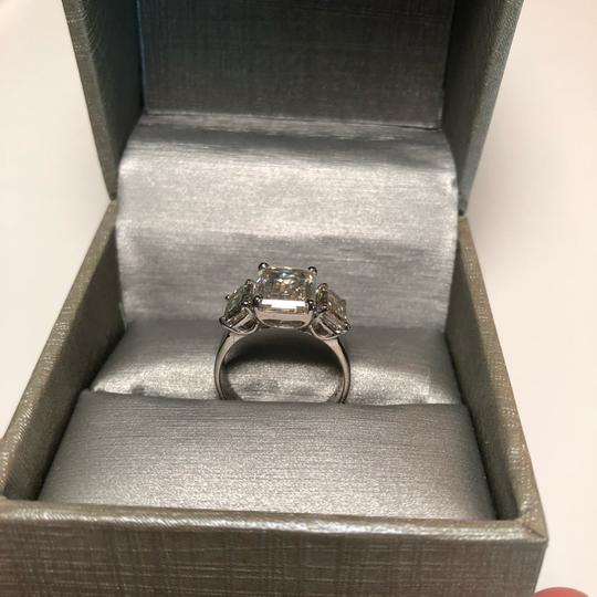 No Brand 6 CT MOISSANITE RING STERLING SILVER SIZE 6 Image 3
