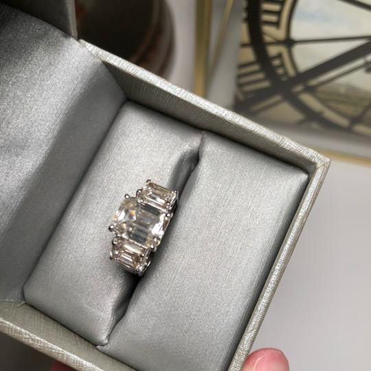 No Brand 6 CT MOISSANITE RING STERLING SILVER SIZE 6 Image 5
