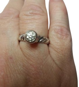 David Yurman DAVID YURMAN Sterling Silver 18K White Gold Ring w/Diamond