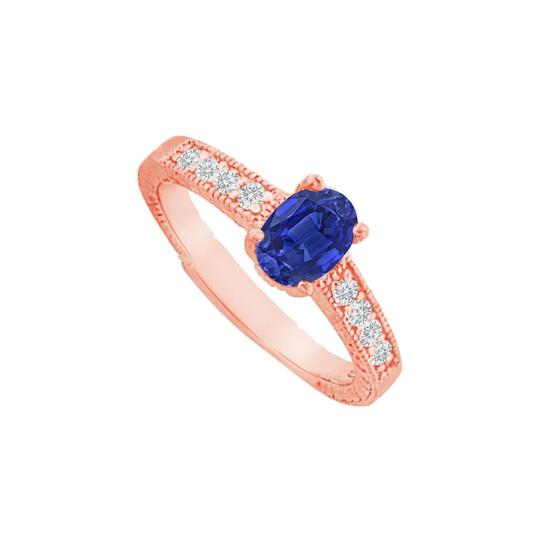 DesignByVeronica Sapphire CZ Prong Set Ring in 14K Rose Gold Vermeil Image 0
