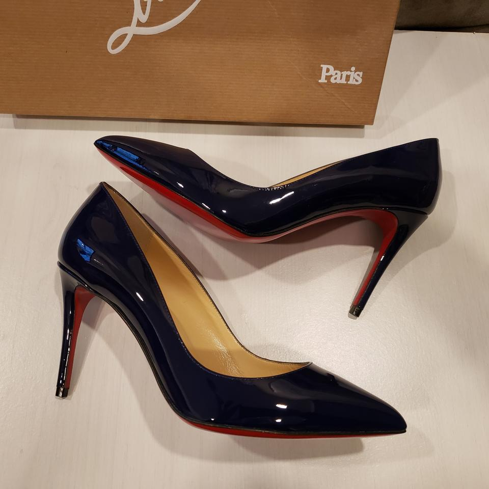 ba0adc18fa33 Christian Louboutin Stiletto Pigalle Follies Patent Leather China Blue Pumps  Image 10. 1234567891011