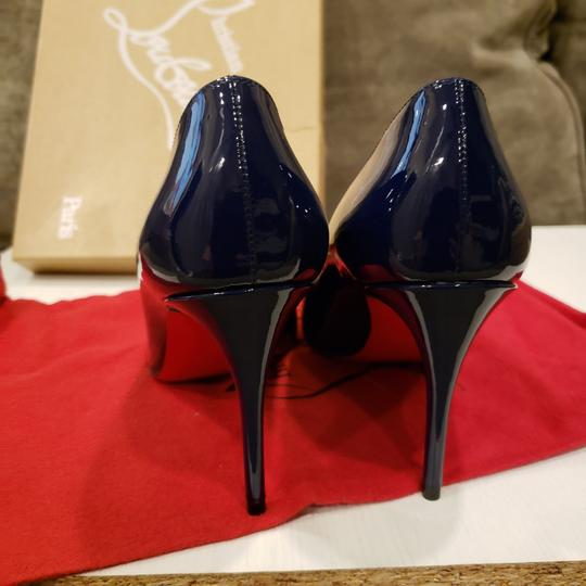 Christian Louboutin Stiletto Pigalle Follies Patent Leather China Blue Pumps Image 3