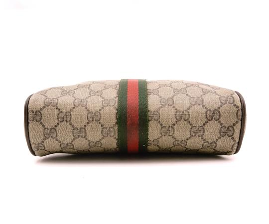 Gucci Web GG Monogram Canvas Leather Cosmetics Travel Dopp Toiletry Bag Image 4