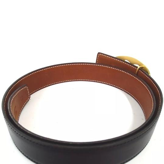Hermès Hermès logo reversible black brown belt 75 Image 2